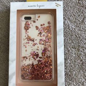 Nanette Lepore glitter case iPhone 7/8 plus